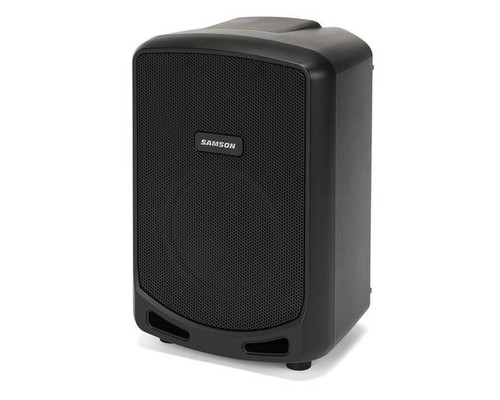 """Samson SAXPEXPP, Express + Portable PA - 75 watts, 2-way, 6"""" woofer, Bluetooth, 3-ch mixer with Samson Wired Mic (rechargeable battery)"""