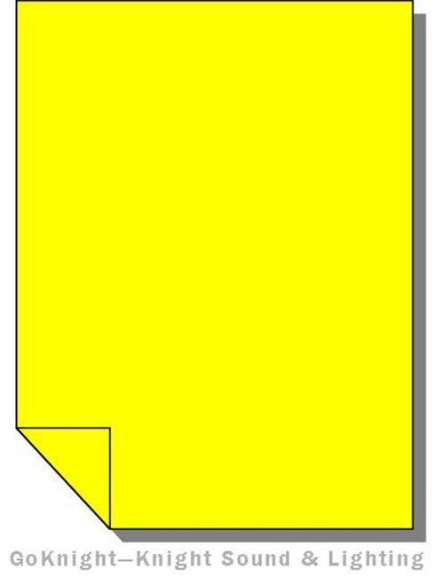 Lee Filters 010 Medium Yellow Lighting Gel Sheet