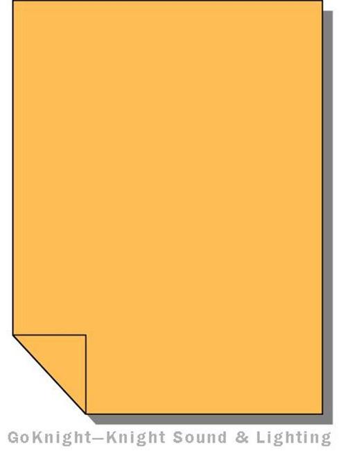 Lee Filters 020 Medium Amber Lighting Gel Sheet