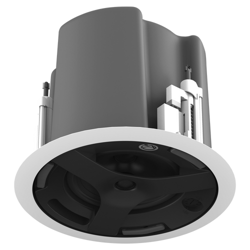 Atlas Sound FAP63T-W 6.5-inch Coaxial In-Ceiling Speaker with 32W 70V/100V Transformer, Ported Enclosure, and Safety First Mounting System, SINGLE UNIT