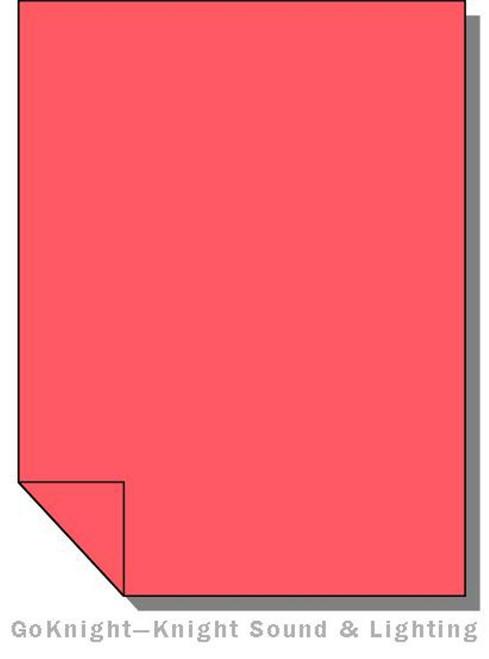 Lee Filters 024 Scarlet Lighting Gel Sheet