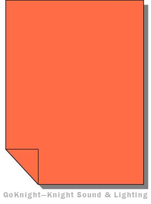 Lee Filters 025 Sunset Red Lighting Gel Sheet