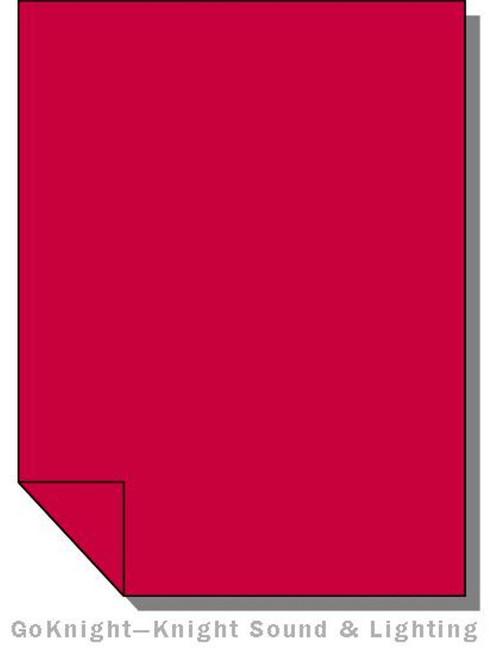Lee Filters 027 Medium Red Filters Lighting Gel Sheet