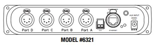 Pathway Connectivity 6321; PWPP RM P4 XLR5F REAR