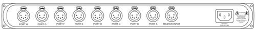 Pathway Connectivity 9114; PWREP RM P8 XLR5F REAR RDMHUB