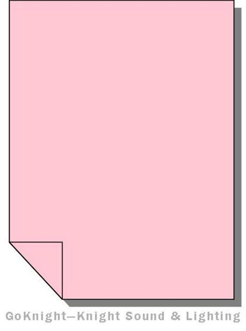 Lee Filters 035 Light Pink Lighting Gel Sheet