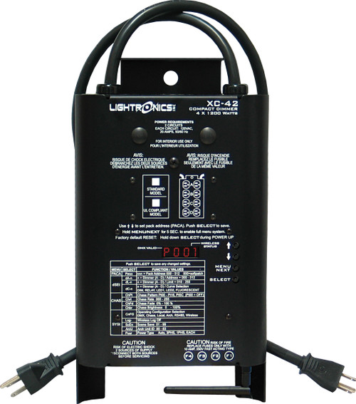 Lightronics XC42 4 Channels X 1200W per Channel (Wireless) DMX Portable Dimmer