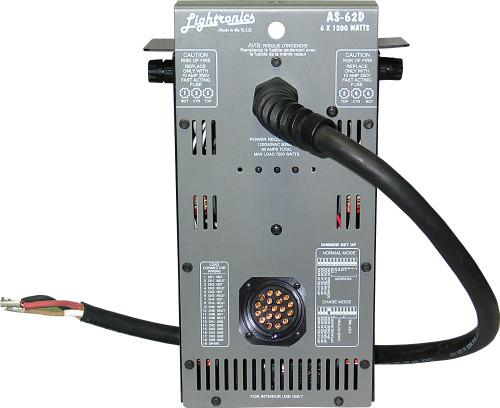 Lightronics AS62DCSL 6 Channels, 1200W Per Channel Portable Dimmer