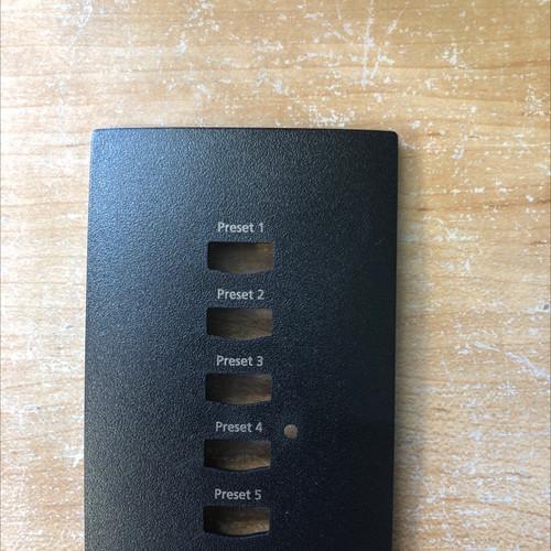 ETC Unison 5-button faceplate 7081A2203-4A, Black