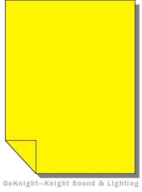 Lee Filters Lighting Gel Sheet 101 Yellow