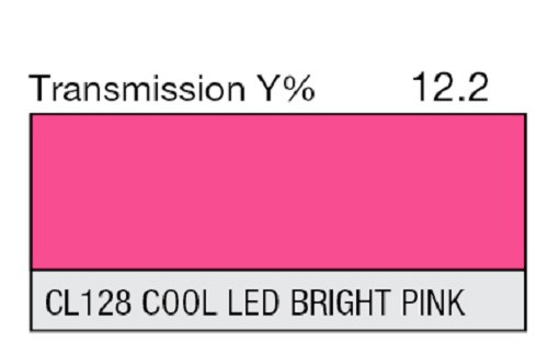 "Lee Filters CL 128 Cool LED Bright Pink Lighting Gel Sheet 21"" x 24"""