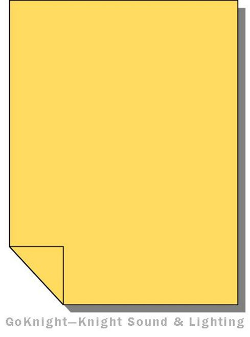 Lee Filters 102 Light Amber Lighting Gel Sheet