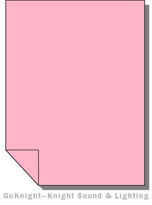 Lee Filters 110 Middle Rose Lighting Gel Sheet