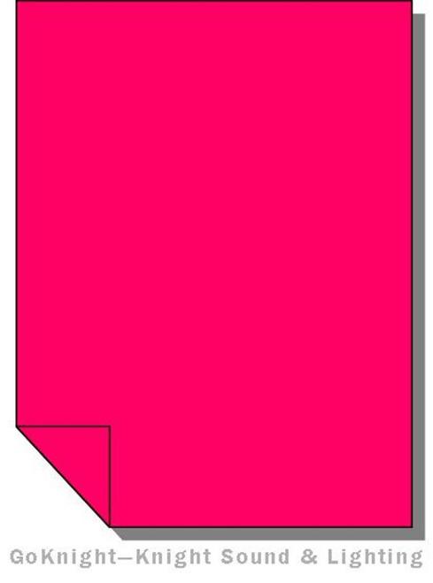 Lee Filters 113 Magenta Lighting Gel Sheet