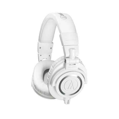 Audio-Technica ATH-M50XWH white headphones