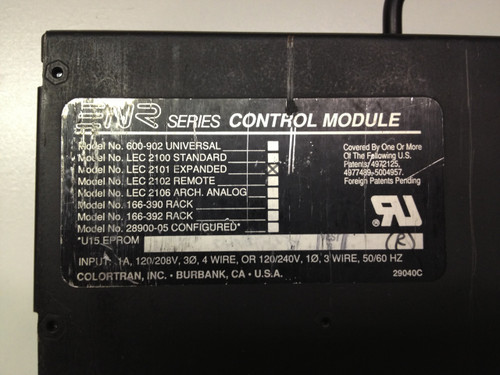 Leviton Colortran ENR Expanded Viewpoint LEC 2101 control module, conversion from architectural control to remote control