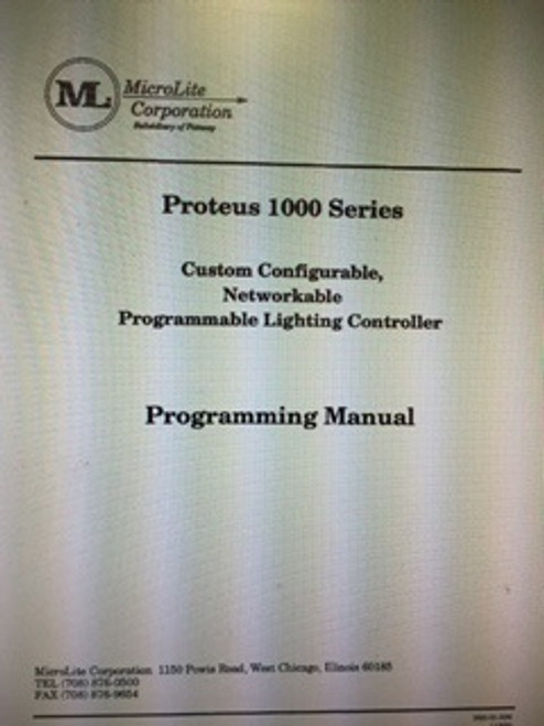 MicroLite Proteus 1000 Series Manual
