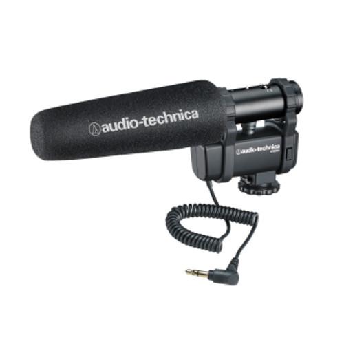 Audio-Technica AT8024 Stereo Mono Camera-Mount Shotgun Microphone