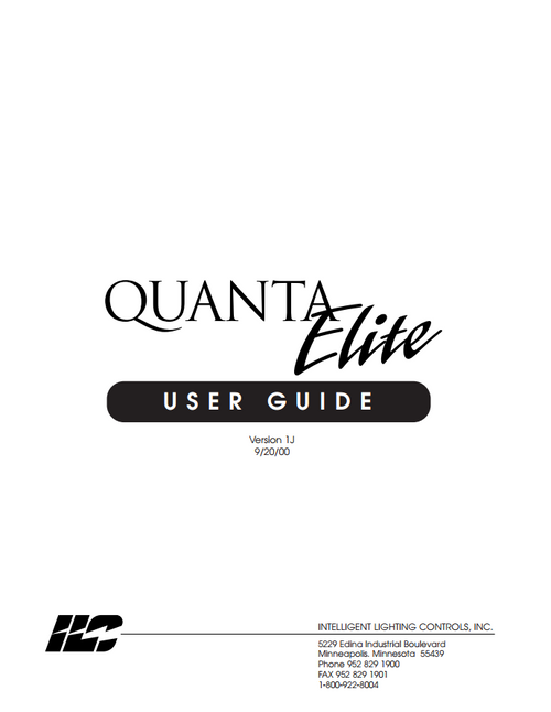 ILC Quanta Elite User Manual
