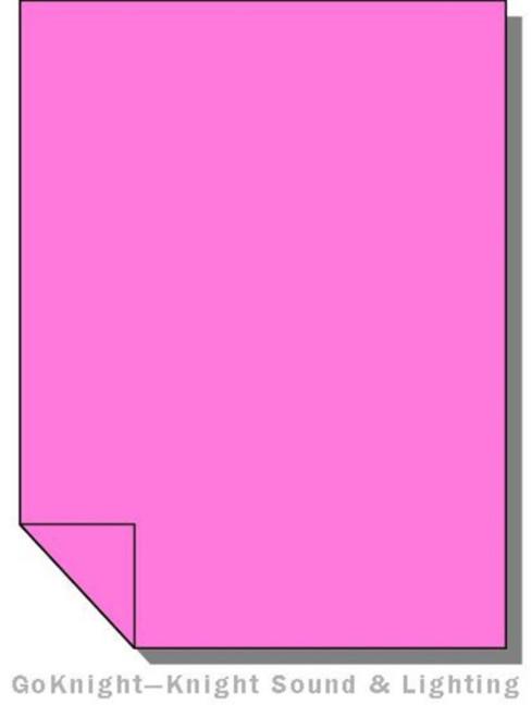 "Lee Filters 002 Rose Pink Lighting Gel Sheet 21"" x 24"""
