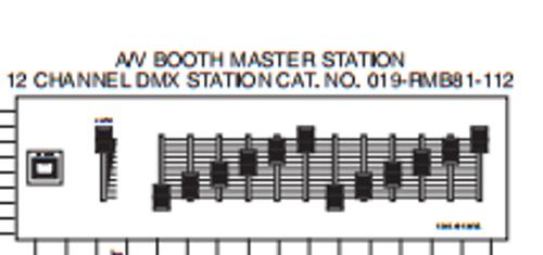 Leviton Remembrance RMB81-019-112 DMX Control Station Master 12; repair