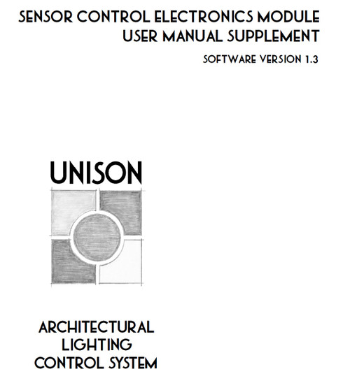 ETC Unison sensor control electronics module user guide