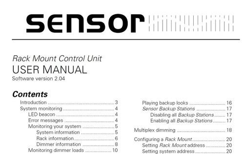 Lighting Controls - Electronic Theatre Controls - ETC Sensor