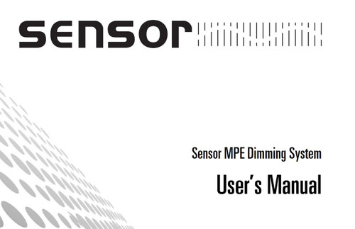 ETC Sensor MPE Dimming System Manual