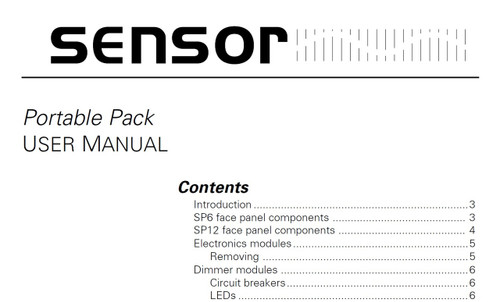 ETC Sensor portable pack manual
