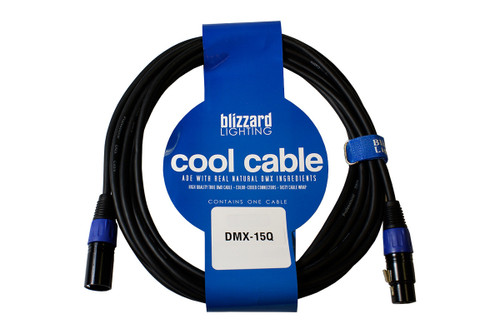 Blizzard Lighting DMX-5PIN-15Q 15 ft. Cool Cable 5-Pin XLRM to XLRF DMX Cable