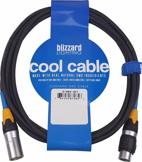 "Blizzard Lighting DMX-IP-10Q ""Cool Cable"" IP 10' 3-Pin XLR 22 Gauge DMX cable"