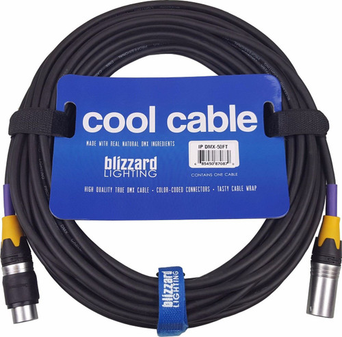 "Blizzard Lighting DMX-IP-50Q ""Cool Cable"" IP 50' 3-Pin XLR 22 Gauge DMX cable"