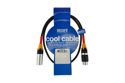 "Blizzard Lighting DMX-IP-3Q ""Cool Cable"" IP 3' 3-Pin XLR 22 Gauge DMX cable"