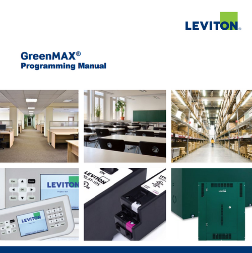 Leviton Greenmax programming manual