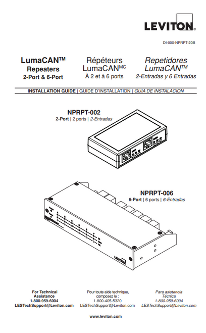 Leviton Lumacan Repeaters Manual