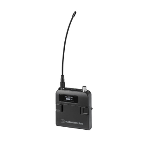 Audio-Technica ATW-T5201 5000 Series (3rd Gen) body-pack transmitter with cH-style screw-down 4-pin connector