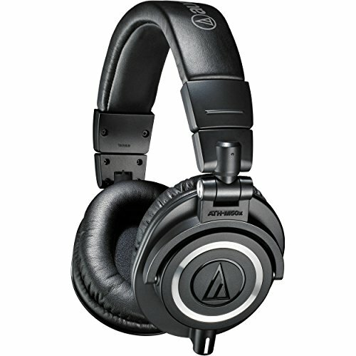 Audio-Technica ATH-M50x Professional Monitor Headphones, Black