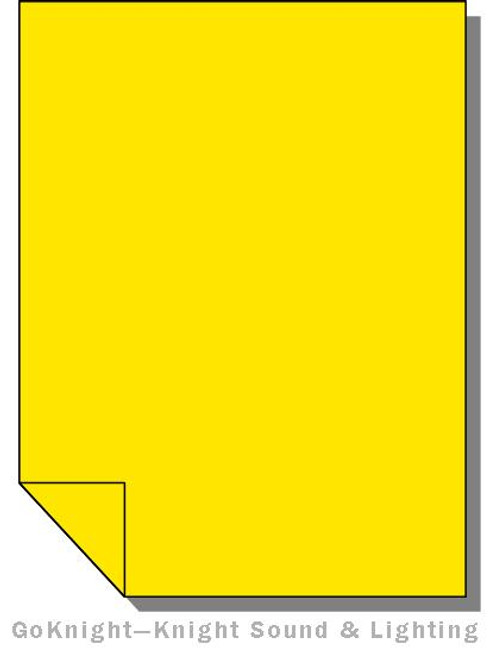 Lee Filters Lighting Gel Sheet 767 Oklahoma Yellow (Lee 767)