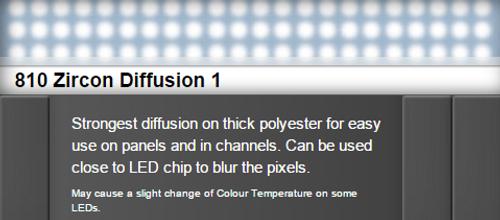 Lee Filters 810 Zircon Diffusion 1