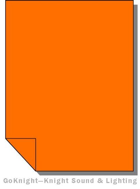 Lee Filters Lighting Gel Sheet 780 AS Golden Amber (Lee 780)