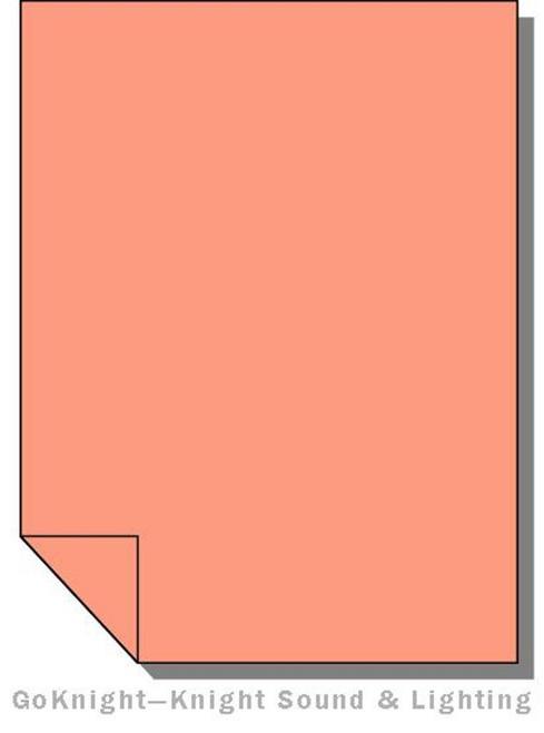 Lee Filters Lighting Gel Sheet 008 Dark Salmon (Lee 008)