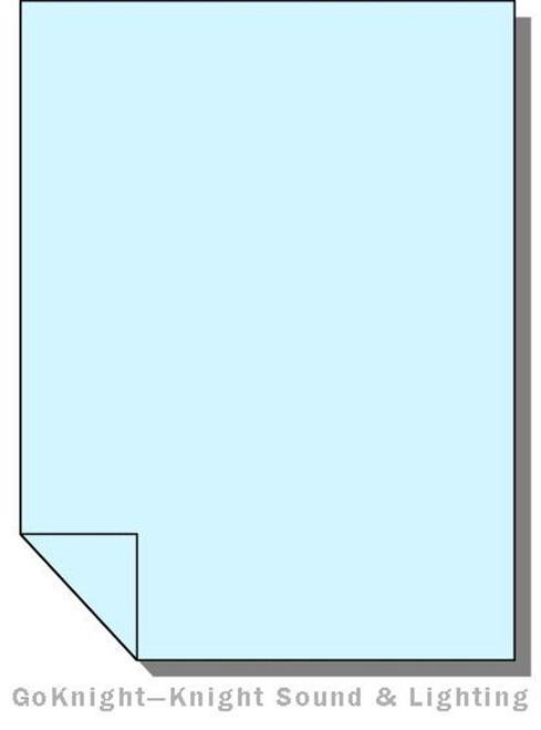 Lee Filters Lighting Gel Sheet 063 Pale Blue High Temperature (Lee 063 HT)