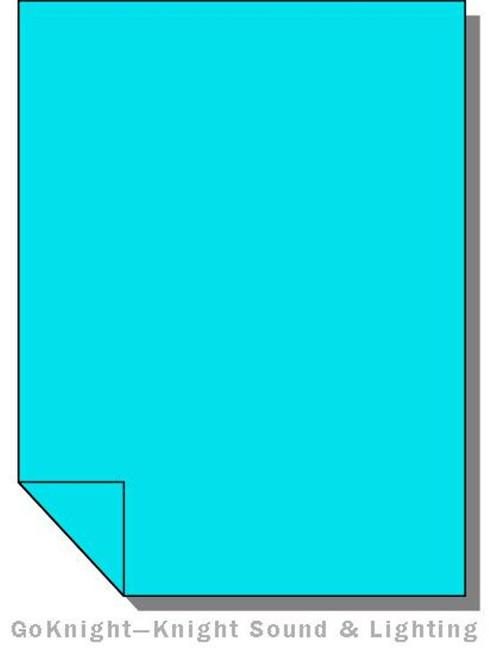 Lee Filters Lighting Gel Sheet 118 Light Blue High Temperature (Lee 118 HT)