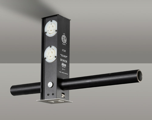 Leviton Skyhook with (2) XLR Punch Outs for User Installed XLR Audio/Video/Data Receptacles and (3) 20A PBG Connectors