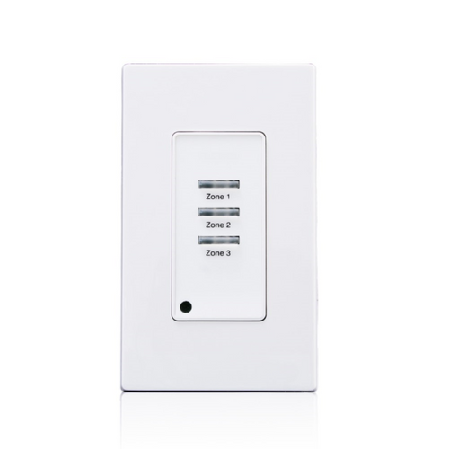 Leviton Low Voltage Pushbutton Station, 3 Button-On/Off, 1 Gang, White (LVS-03W)