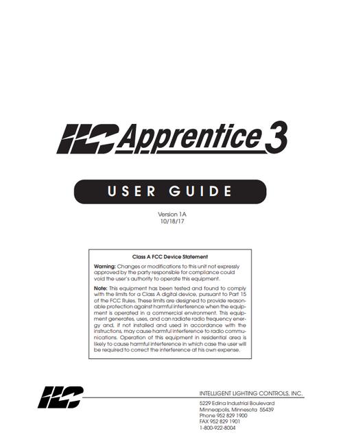 ILC Apprentice 3 User Guide