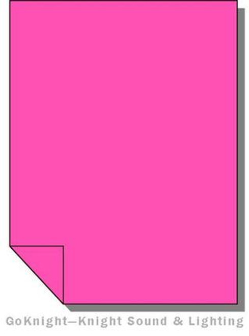 Lee Filters 128 Bright Pink Fluorescent Sleeve