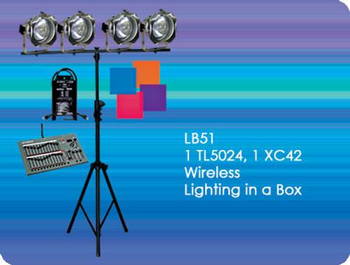 Lightronics LB51 Wireless DMX Lighting in a Box, Lightronics LB51 Wireless DMX Lighting in a Box Includes TL5024 DMX Console and (4) PAR38 Fixtures
