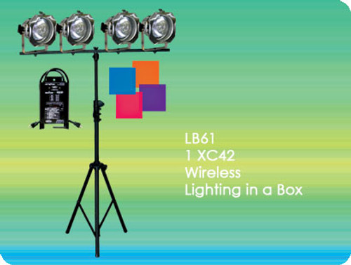 Lightronics LB61 Lighting in a Box Includes XC42 Dimmer and 4 PAR38 Fixtures DMX compatible