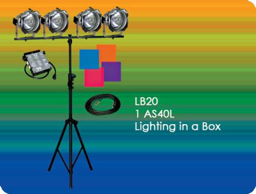 Lightronics LB20 AS Series includes AS40L Dimmer   4 PAR 38 Fixtures